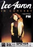 AARON, LEE - 1987 - Konzertplakat - In Concert - Tourposter - Speyer