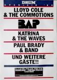 DRUM OPEN AIR - 1986 - Plakat - BAP - Lloyd Cole - Katrina - Poster - Düssedorf