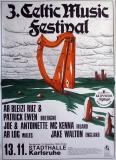 CELTIC MUSIC FESTIVAL 3. - 1980 - Plakat - Concert - Irland - Poster - Karlsruhe