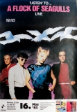 A FLOCK OF SEAGULLS - 1983 - Konzertplakat - Concert - Tourposter - Mannheim
