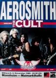 AEROSMITH - 1989 - Konzertplakat - The Cult - Pump - Tourposter - Mannheim