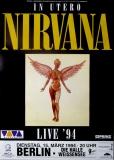 NIRVANA - 1994 - Plakat - In Concert - In Utero Tour - Poster - Berlin
