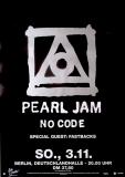 PEARL JAM - 1996 - Plakat - In Concert - No Code Tour - Poster - Berlin
