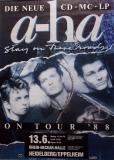 A-HA - 1988 - Konzertplakat - Stay on these Roads - Tourposter - Heidelberg