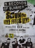 5 SECONDS OF SUMMER - 2016 - Konzertplakat - Sounds Live - Tourposter - Köln