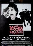 ROLLING STONES - 1998-06-13 -Plakat - Bridges to - Poster - Nürnberg (G)