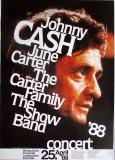 CASH, JOHNNY - 1988 - Plakat - Günther Kieser - Poster - Ludwigshafen