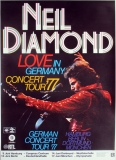 DIAMOND, NEIL - 1977 - Plakat - Love in Germany - Günther Kieser - Poster