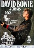 BOWIE, DAVID - 1987 - Plakat - Günther Kieser - Poster - Rock am Ring