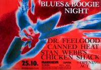 BLUES & BOOGIE - 1990 - Plakat - Feelgood - Canned Heat - Poster - Mannheim