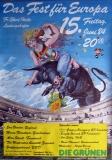 FEST FÜR EUROPA - 1984 - Plakat - Eric Burdon - Stivell - Poster - Ludwigshafen