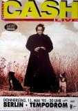 CASH, JOHNNY - 1995-05 - Plakat - American Recordings Tour - Poster - Berlin
