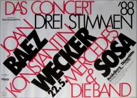 DREI STIMMEN - 1988 - Plakat - Günther Kieser - Poster - Heidelberg