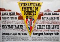 COUNTRY MUSIC FESTIVAL - 1990 - Plakat - Jerry Lee Lewis - Stuttgart