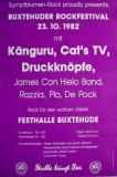 BUXTEHUDER ROCK - 1982 - Konzertplakat - Känguru - Razzia - Cats TV - Poster