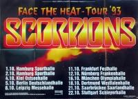 SCORPIONS - 1993 - Tourplakat - In Concert - Face the Heat - Tourposter