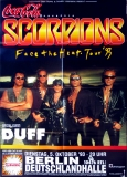 SCORPIONS - 1993 - Plakat - In Concert - Face the Heat Tour - Poster - Berlin