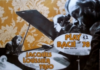 LOUSSIER TRIO, JAQUES - 1978 - Konzertplakat - Plays.. - Tourposter - Mainz