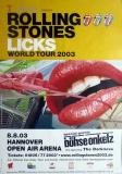 ROLLING STONES - 2003-08-08 - Plakat - Licks- Poster - Hannover (B)