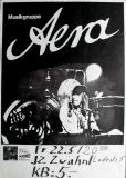 AERA - 1981 - Konzertplakat - Musikgruppe - Concert - Türkis - Tourposter