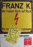 FU ROCK NIGHT 2. - 1981 - Plakat - Franz K - Overload - Poster - Berlin