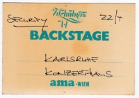 AMBROS, WOLFGANG - 1988 - Pass - Gewitter - Security  - Backstage - Mannheim