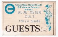 BLUE ÖYSTER CULT - 1985 - Pass - Tokyo Blade - Guest - Ludwigshafen