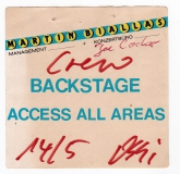 COCKER, JOE - 80er - Pass - Backstage - Crew