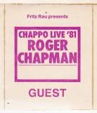 CHAPMAN, ROGER - 1981 - Pass - Chappo - Guest