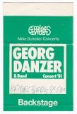 DANZER, GEORG - 1981 - Pass - Ruhe vor dem Sturm - Backstage