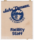 DENVER, JOHN - 1979 - Pass - Europe - Tour - Facility Staff