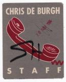 DE BURGH, CHRIS - 1984 - Pass - High on Emotion - Tourpass - Staff