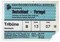 DEUTSCHLAND - PORTUGAL - 1982 - Eintrittskarte - Fussball - Ticket - Mannheim