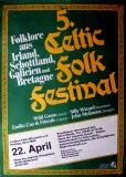 CELTIC FOLK FESTIVAL 5. - 1983 - Plakat - Wild Geese - Poster - Osnabrück