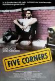 FIVE CORNERS - 1987 - Filmplakat - Jodie Foster - Tim Robbins - Poster