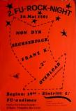FU ROCK NIGHT 2. - 1981 - Konzertplakat - Franz K - Overload - Berlin - Rot