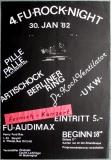 FU ROCK NIGHT 4. - 1982 - Plakat - UKW - Artischock - Poster - Berlin