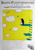 ERSTE FLUGVERSUCHE - 1986 - Junges Theaterfestival - Poster - Düsseldorf