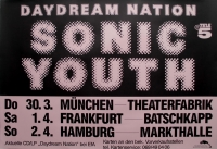 SONIC YOUTH - 1988 - Tourplakat - Concert - Daydream Nation - Tourposter