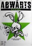 ABWÄRTS - ABWAERTS - 1991 - Tourplakat - Concert - Comic Krieg - Tourposter