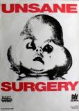 UNSANE - 1992 - Tourplakat - Surgery - Concert - Singles 89-92 - Tourposter
