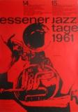 ESSENER JAZZ TAGE - 1961 - Plakat - Günther Kieser - Poster - Essen
