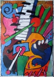 JAZZ FEST BERLIN - 1988 - Plakat - Günther Kieser - Poster
