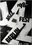 JAZZ FEST BERLIN - 1998 - Plakat - Günther Kieser - Poster