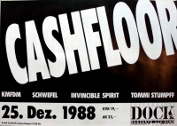 CASHFLOOR - 1988 - KMFDM - Schwefel - Stumpff - Hamburg - Poster - Hamburg