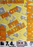 DEEP HOUSE PARTY - 1989 - Konzertplakat - Ten City - Mazelle - Poster - Hamburg