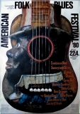 AMERICAN FOLK & BLUES - 1980 - Plakat - Günther Kieser - Poster - Mannheim