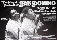 DOMINO, FATS - 1976 - Konzertplakat - King of... - Tourposter - Ludwigshafen