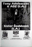 ADOLESCENT, TONY - 1995 - Tourplakat - Concert - Sister Goddamn - Tourposter