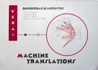 MACHINE TRANSLATIONS - 2001 - Konzertplakat - Poster - Vera - Groningen
